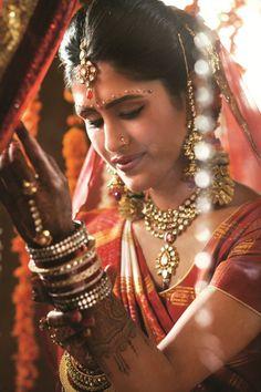 Gujrati Bride in traditional jewellery
