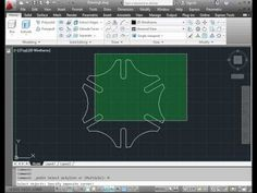 AutoCAD Tutorial - basic training - how to build a gear - YouTube