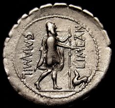 Ulysses with his dog.MAMILIUS.Very Rare.Roman. silver Coin. Exceptional XF AU MS