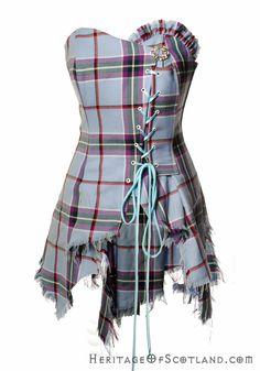 Bella Corset, Made to Order, World Peace Tartan | Scottish kilts online shop - Buy tartan kilt - Edinburgh.