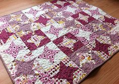 Spinning Friendship Stars Baby Girl Quilt