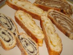 Kolachi - Slovak poppyseed, apricot, and nut rolls -- my grandmother made these by the dozen and we ate them from late Fall to Christmas!!