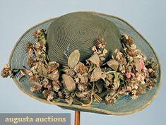 Wide Brim Summer Cloche, 1920s, Augusta Auctions, April 2006 Vintage Clothing & Textile Auction, Lot 455