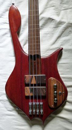 A 4-string Prometeus Guitars bass.