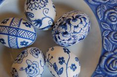 Blue Willow Easter Eggs