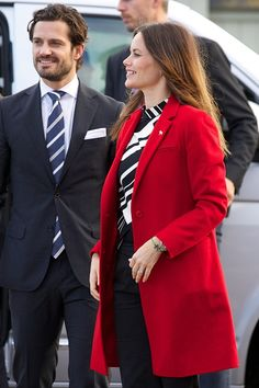 Prince Carl Philip of Sweden and Princess Sofia of Sweden visit the Falun Mine world heritage site during the first day of their trip to Dalarna on...