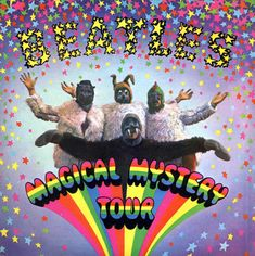 """The Beatles """"Magical Mystery Tour"""" UK EP (1967) Photography by Bob Gibson. Design by Drew Lorimer"""