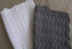 Halager: DIY - Hæklet håndklæde i zigzagmønster