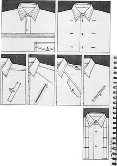 1 Four ideas for pockets centred over vertical seams. Ny Fashion, Minimal Fashion, Fashion Details, Flat Drawings, Flat Sketches, Fashion Sketch Template, Fashion Terminology, Sewing Pockets, Technical Drawing
