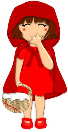 CHAPEUZINHO VERMELHO Cartoon Pics, Cartoon Art, Red Riding Hood Party, Red Ridding Hood, Toy Theatre, Storybook Characters, Art Clipart, Toy Craft, Illustrations
