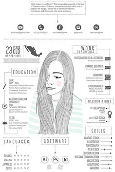 Best Creative Resume Design Infographics Best collection of resume designs 2015 for all. Examples of CV and curriculum vitae samples for all freshers and experienced. Cv Inspiration, Graphic Design Inspiration, Behance Illustration, Conception Cv, Cv Curriculum Vitae, Design Spartan, Visual Resume, Infographic Resume, Infographic Examples