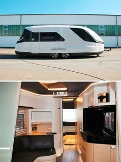 Inspired by the shape and style of luxury yachts, this curvaceous creation adds a degree of elegance (not to mention fuel efficiency) back into the realm of contemporary mobile homes. Caravisio by German company Knaus Tabbert uses curves strategically to create a sense of openness in the small ...