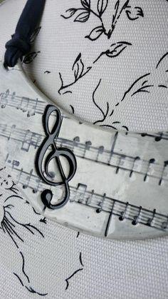 Collar Musical Blanco | Cerámica El Unicornio Loco