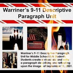 Warriner's English and Composition Classroom for Middle School ELA students 9-11 Descriptive Paragraph Unit! http://www.teachers.com/store/Warriners-E
