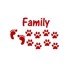Dogs are Family 2 Dogs Vinyl Wall Decal Feet and Paw by sookiedog, $10.00