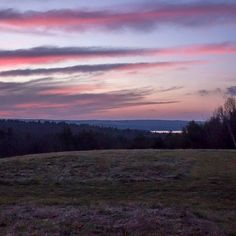 Overlooking the hills from Tower Hill Botanic Garden in Boylston last night. by lmcreates