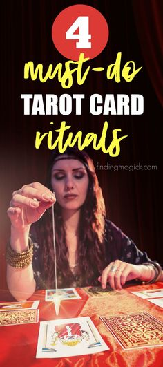 Love tarot? Do you practice these 4 rituals with your tarot cards? Number 3 is my favorite to do with my tarot deck before perform any spreads! I do these with oracle cards too. #tarot #tarotcards #ritual #oraclecards #divination #tarotreading #tips #tipsandtricks