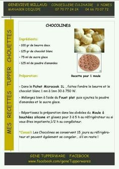 Tea time - Chocoline chocolat blanc - Tupperware