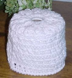 CROSS STITCH TOILET TISSUE COVER Crochet Pattern - Free Crochet Pattern Courtesy of Crochetnmore.com
