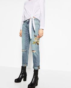 Zara Femme, Mercerie, Fringues, Broderie, Mode, Pantalons, Jeans Pour Femme 6242f4474c75