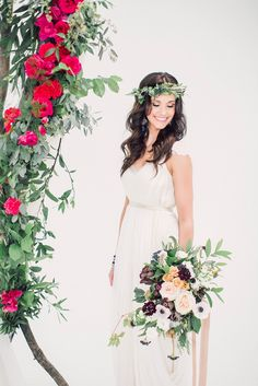 Pops of vibrant color and earthy details create for a romantic contrast!   http://www.adornmagazine.com/blog   Heidi Lau Phtography