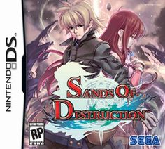 Sands of Destruction (SEGA), DS; RPG developed by imageepoch & published by Sega released in 2008. story revolves around a young man, Kyrie, who possesses the power to destroy the world, though he does not know why. The female lead is Morte, a member of a group that is trying to destroy the world.The game plays in a 3D environment with a rotating camera. Famitsu awarded the Japanese version 31 out of 40.