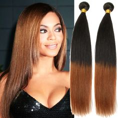 "Hot!! 100% Brazilian Human Hair Extension Ombre Straight 1B/30# 50g/PC 10""-30"" #WIGISS #HairExtension"
