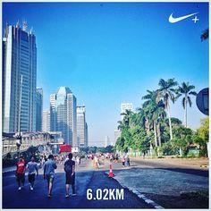 #nikeplus #running #run #myrun #morning #goodmorning #carfreeday #cfd #sudirman #jakarta #instarunner #laripagi #indonesia #lari #6k