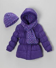Purple Girls Winter Coat - JacketIn