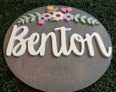 Wood Name Sign Baby Shower Gift Newborn Nursery Name Letters