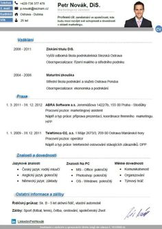 Pro-CV 7. vzor muž. Více informací zde http://www.pro-cv.cz/produkt/pro-cv-7-vzor-muz/