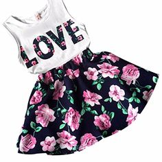 Mud Kingdom Little Girls Outfits Summer Holiday Pony Flower Tank Tops and Short Sets