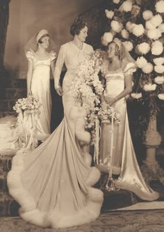Marjorie Merriweather Post and bridesmaids at her 1935 wedding to Joseph E. Davies.