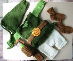 knitted robin hood costume baby