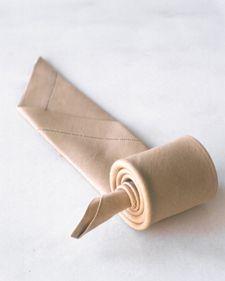 roll napkin fold