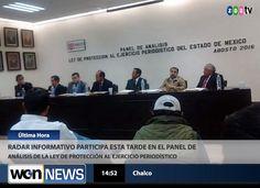 ** RaDar InFormaTivo **: Participa Radar Informativo en el Panel de Análisis de la Ley de Protección al ejercicio periodístico llevado a cabo en Chalco