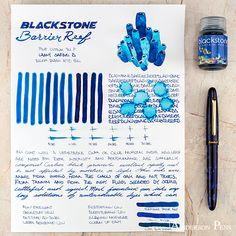 thINKthursday Blackstone Barrier Reef ___ #fpn #fpgeeks #fountainpen #fountainpens #andersonpens #handwriting #inkspiration Pelikan Fountain Pen, Fountain Pen Ink, Ale, Anderson Pens, Nalgene Bottle, Best Pens, Penmanship, Pen And Paper, Writing Instruments