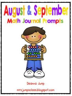 Math Journal Prompts BUNDLE for FULL YEAR!