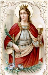 Saint Barbara is beloved of the Spanish-speaking peoples. She is the special protectress of the region of Metz in France, where a magnificent church, later destroyed, was built in her honor in the 1500's  #Catholic #saintoftheday #prayforus #StBarbara