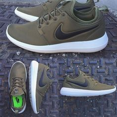 nike roshe two hombre olive