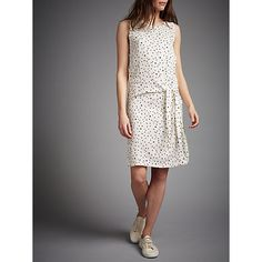 Buy Numph Itsuki Geometric Print Tie Dress, Birch Online at johnlewis.com