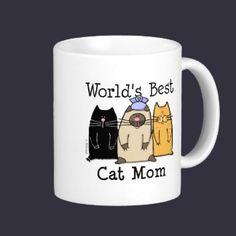 World's Best Cat Mom Mugs