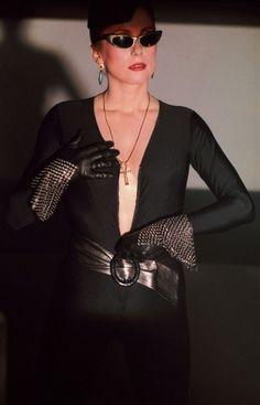The Hunger cult goth fashion Bowie Catherine Deneuve YSL