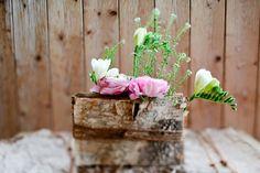 DIY: A rustic birch bark wedding centerpiece