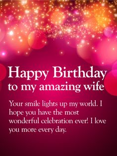 You are the light of my life happy birthday wishes card for wife happy birthday wishes card for wife brilliant bursts of color will help you celebrate your wifes birthday in an unforgettable way m4hsunfo