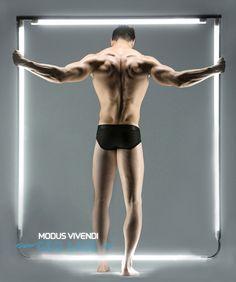 Alexandros Kaltsidis by Panos Misailidis in Modus Vivendi Geo Lace underwear Greek Fashion, Boy Fashion, Men's Fashion Brands, Fashion Models, Underwear Brands, Male Underwear, Swimwear Brands, Mens Fitness, Male Models