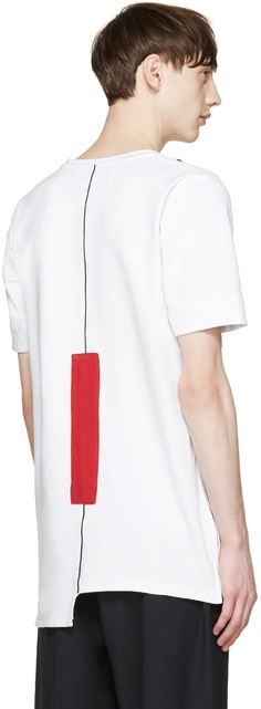 Pyer Moss: White Fixed Damage T-Shirt | SSENSE