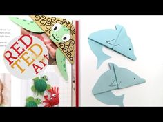 Easy Apple Bookmark Corner for Back to School - Book Worm - Teacher's Gift - YouTube