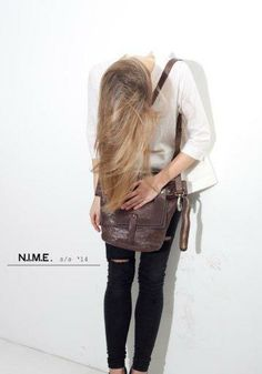 Erin double shoulder bag deep dyed veg tanned leather cocco