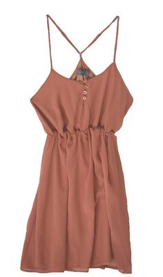 Spaghetti Strap Dress. Would look cute with a boho purse and some gladiator sandals. maybe a cardigan, denim jacket, and/or add a light summer scarf :)